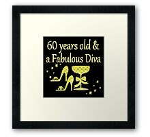 GORGEOUS GOLD 60 YRS OLD AND A FABULOUS DIVA Framed Print
