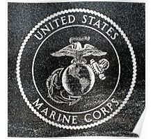 Marine Corp Emblem Polished Granite Poster