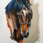 Thoroughbred sketch by Stephanie Greaves
