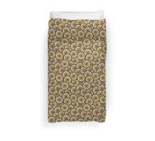 green doodle flower pattern Duvet Cover