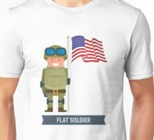 FLAT SOLDIER Unisex T-Shirt