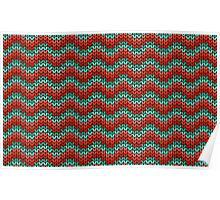 zigzag seamless knitting colorful pattern Poster