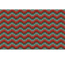 zigzag seamless knitting colorful pattern Photographic Print