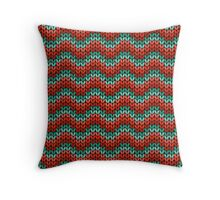 zigzag seamless knitting colorful pattern Throw Pillow