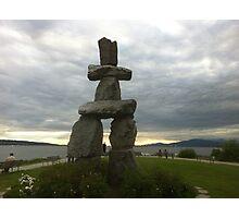 Inuksuk, Sunset Beach -- Vancouver, BC, Canada Photographic Print