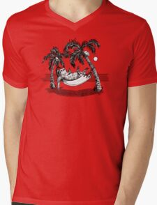 Kelly Groen Sloth Mens V-Neck T-Shirt