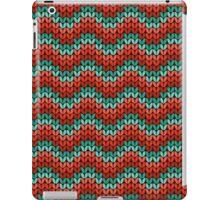 zigzag seamless knitting colorful pattern iPad Case/Skin