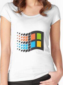 Windows 95 logo Women's Fitted Scoop T-Shirt