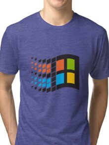 Windows 95 logo Tri-blend T-Shirt