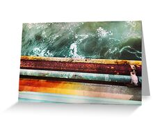 Rust and Sea Foam Greeting Card