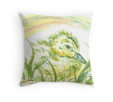 Pekin Baby Duck Throw Pillow