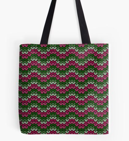 zigzag seamless knitting colorful pattern Tote Bag