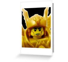 Lego Flying Warrior Greeting Card