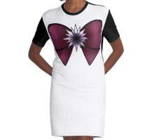 Sailor Saturn Bow Graphic T-Shirt Dress