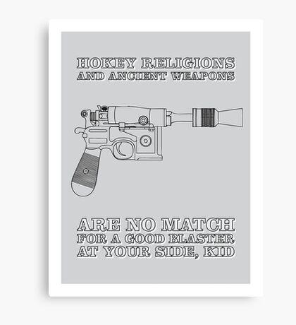 Han Solo - Blaster Canvas Print