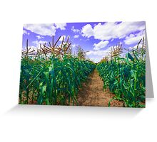 Clouds and Corn Greeting Card