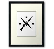 Minutemen Logo (black) - Fallout 4 Framed Print