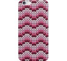 zigzag seamless knitting pink pattern iPhone Case/Skin