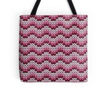 zigzag seamless knitting pink pattern Tote Bag