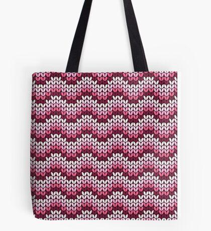 zigzag seamless knitting pink pattern Tote Bag