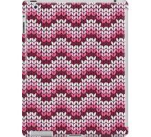 zigzag seamless knitting pink pattern iPad Case/Skin