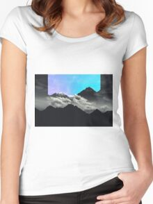 echo mountains blue Women's Fitted Scoop T-Shirt