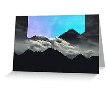 echo mountains blue Greeting Card
