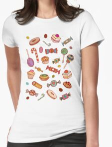 Candy & Bonbon Womens Fitted T-Shirt