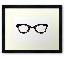 Nerd Glasses Framed Print