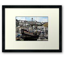 The Golden Hind at Brixham Harbour Framed Print