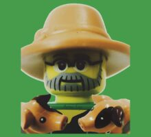 Lego Farmer minifigure Kids Tee