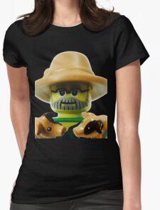 Lego Farmer minifigure Womens Fitted T-Shirt