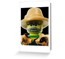 Lego Farmer minifigure Greeting Card