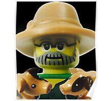Lego Farmer minifigure Poster