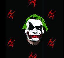 Joker Heath ledger  by sleepyblues