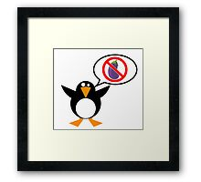 He's Not an Eggplant Framed Print