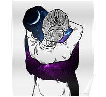 The universe hug Poster