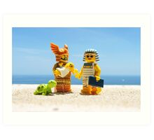 Family vacations Art Print