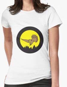 Hunt night owl bird Womens Fitted T-Shirt