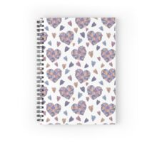 Cute colorful doodle heart Spiral Notebook