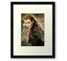 Tauriel Portrait- The Hobbit, Desolation of Smaug Framed Print