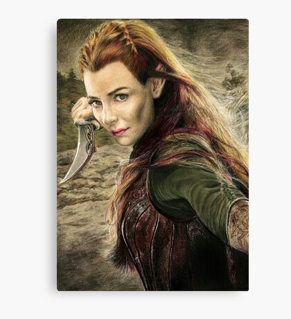 Tauriel Portrait- The Hobbit, Desolation of Smaug Canvas Print
