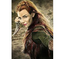 Tauriel Portrait- The Hobbit, Desolation of Smaug Photographic Print