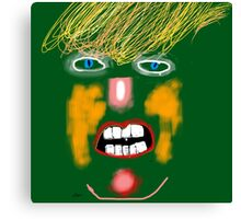 Green Donald Trump, by Roger Pickar, Goofy America Canvas Print