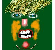 Green Donald Trump, by Roger Pickar, Goofy America Photographic Print