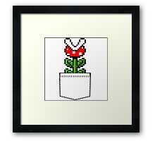 8-Bit Mario Pocket Piranha Plant Framed Print