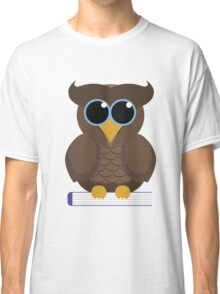 Owl Sitting on a Book Classic T-Shirt