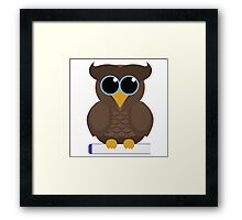 Owl Sitting on a Book Framed Print