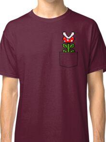 8-Bit Mario Pocket Piranha Plant Classic T-Shirt