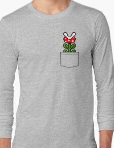 8-Bit Mario Pocket Piranha Plant Long Sleeve T-Shirt